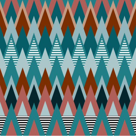 Fabric 14916 | Góry Teal / brown