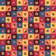 Fabric 14938 | retro Gwiazdy  i kwadraty XXl0