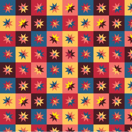 Fabric 14940 | retro Gwiazdy  i kwadraty Small0