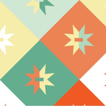 Tkanina 14952 | Geometryczne - mix Pastelowy XL
