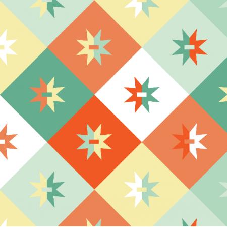 14953 | Geometryczne - mix Pastelowy Medium