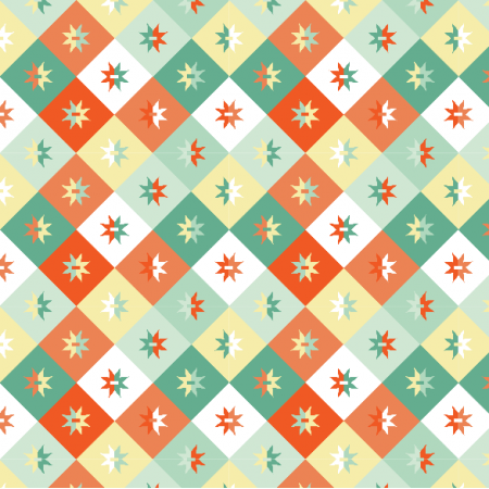 Fabric 14954 | Geometryczne - mix Pastelowy Small