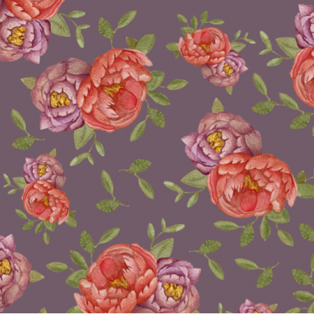 Tkanina 14959 | Violet peonies