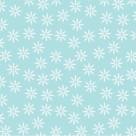Fabric 14960 | stokrotki baby blue xl