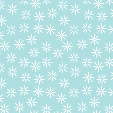 Fabric 14960 | stokrotki baby blue xl