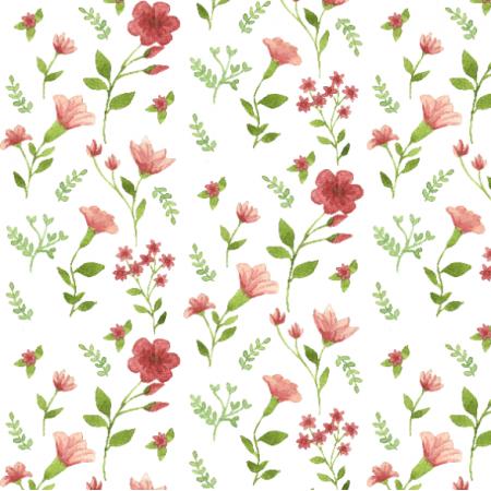 Tkanina 14981 | Różowa łączka