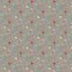 Fabric 14982 | Różowa łączka szara