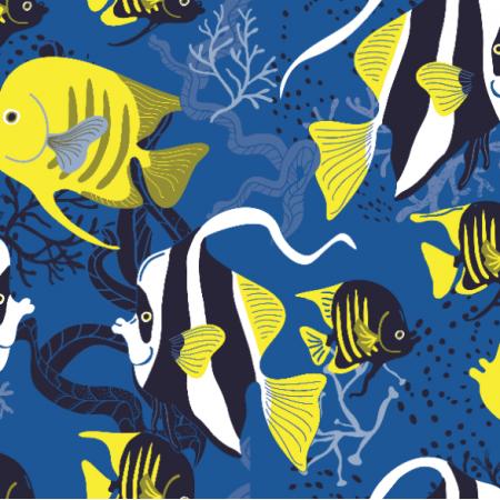 Fabric 14987 | ryby