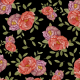 Fabric 15029 | Black peonies lot