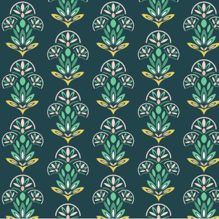 Fabric 15044   geometryczny wzór w kwiaty etno ornament 3