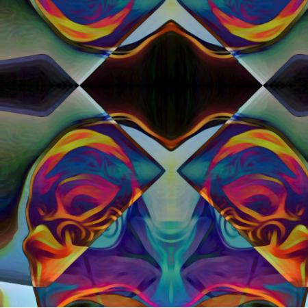 Fabric 15075 | cyrkowe twarze