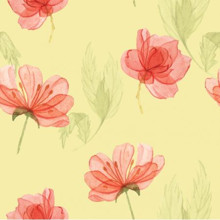 Tkanina 15177 | Kwiatki na zółtym xl