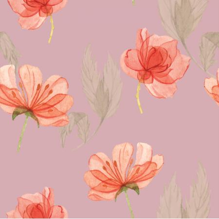 Tkanina 15180 | kwiatki na różu  xl