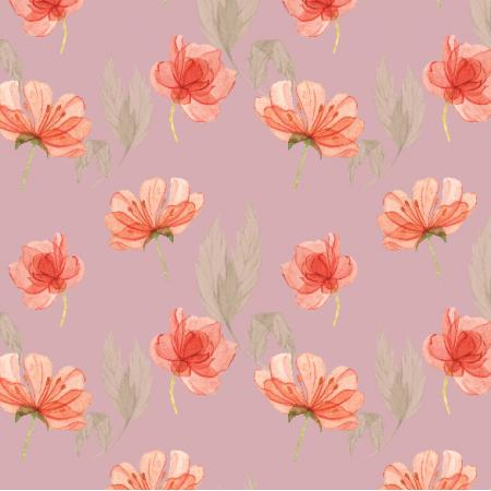 Tkanina 15182 | kwiatki na różu  Small