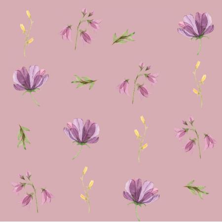 Fabric 15190 | wiosenne fiolet XL