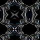 Tkanina 15240 | Ornament z tęczowym motywem