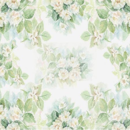 15368 | Białe Róże - Motyw kwiatowy