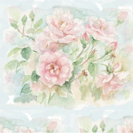 Tkanina    Pastelowe Róże