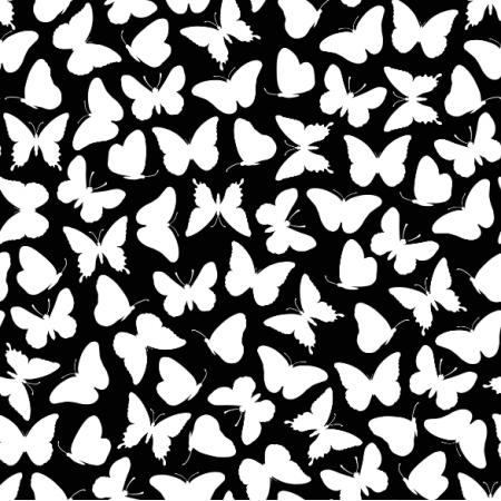 15395 | Butterflies/black0