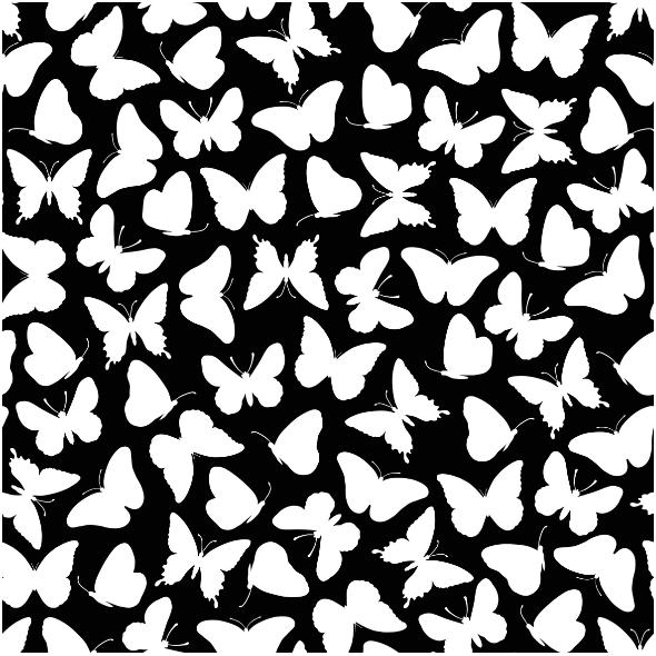 Fabric 15395 | Butterflies/black0
