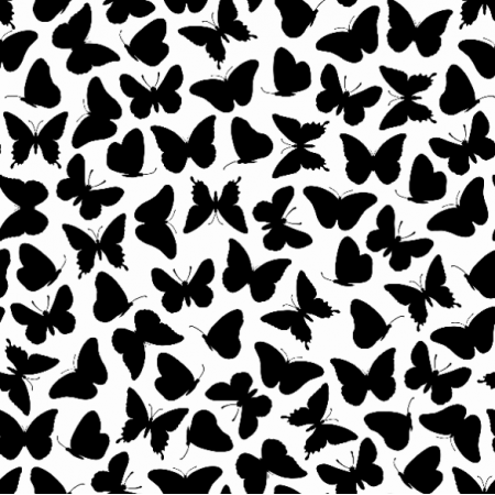Fabric 15396 | Butterflies/White