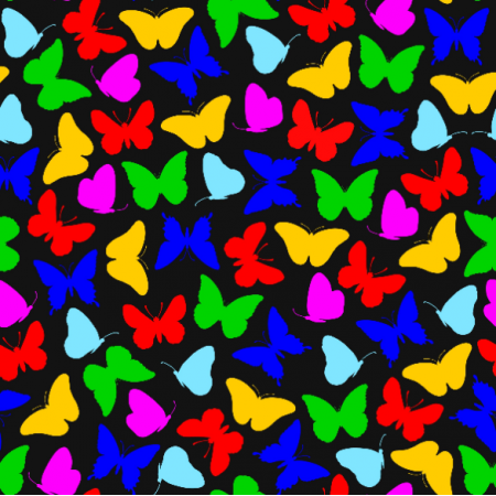 Tkanina 15397 | Butterflies/Colorful