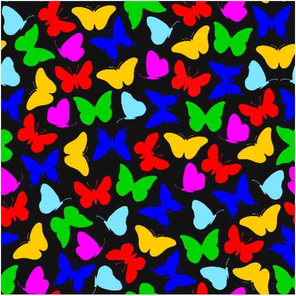Fabric 15397 | Butterflies/Colorful