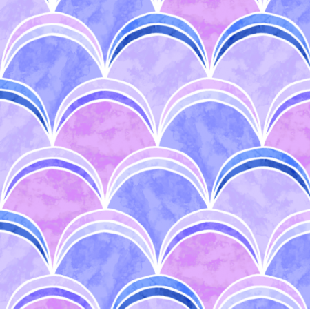 Fabric 15404 | Mermaid Tail ART DECO PURPLE