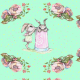 Fabric 15439 | bunny and roses
