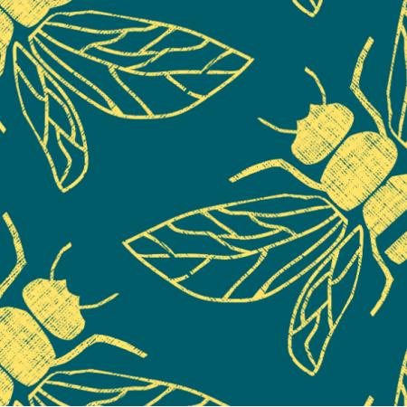 Tkanina 15451 | POLLINATOR BEEs