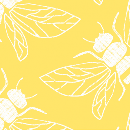 Fabric 15452 | PollINATOR BEES YELLOW