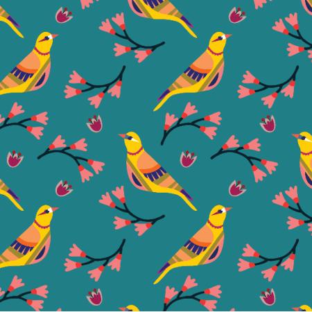 15549 | Ptaszki na Turkusowym