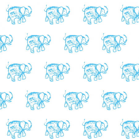 Fabric 15552 | BLUE ELEPHANT PATTERN FOR KIDS