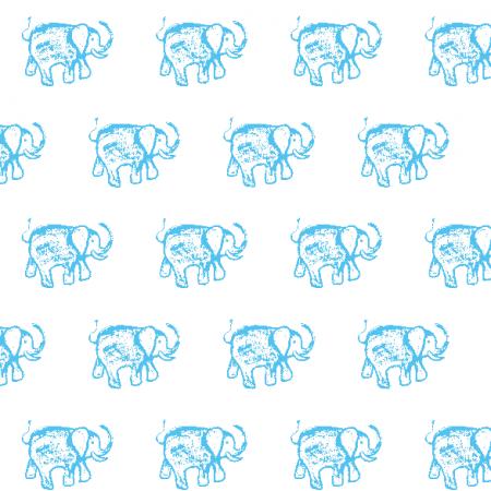 15552 | BLUE ELEPHANT PATTERN FOR KIDS