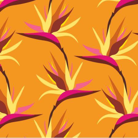 Fabric 15562 | Bird of Paradise Tropical Yellow