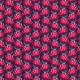 Fabric 15579   Waratah Australian Flora Pink Navy
