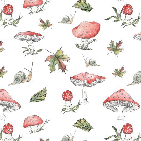 Fabric 15659 | muchomoriki