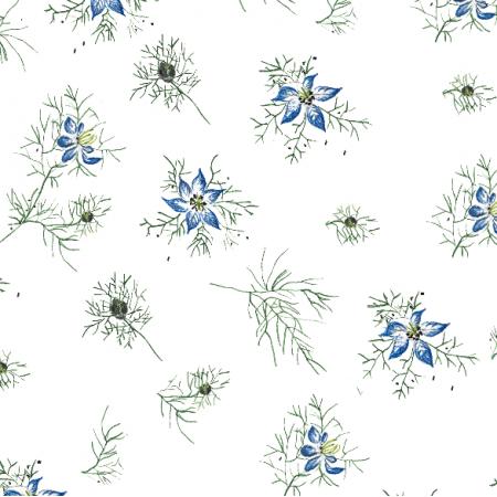 Fabric 15668 | kwiat czarnuszki