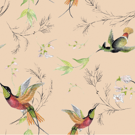 Fabric 15713 | rajskie  ptaki