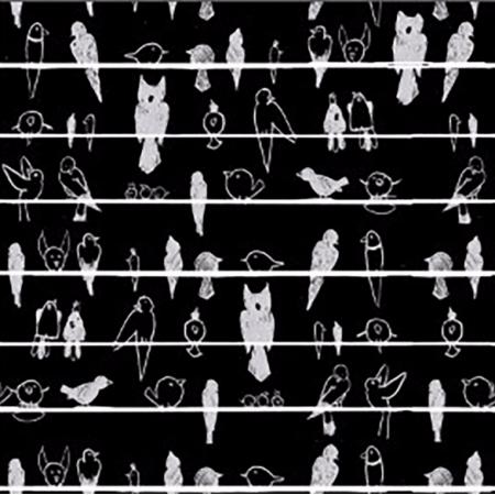 Fabric 1732 | pTASIE POGADUCHY CZARNE