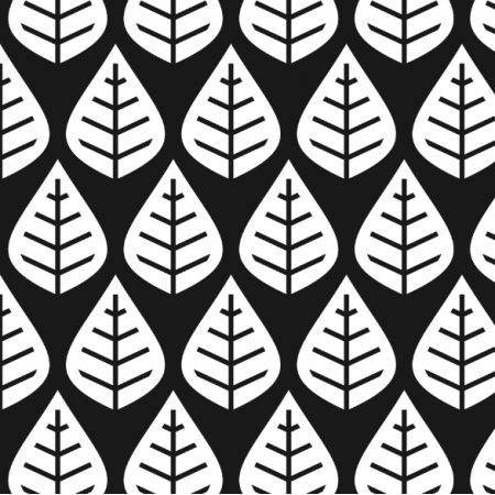 Fabric 15747 | black white deciduous forest