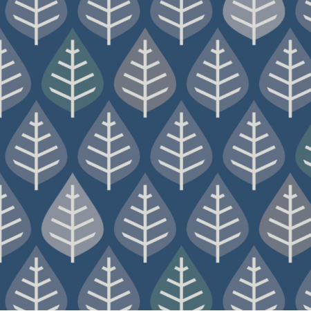 Fabric 15749 | deciduous forest blue on blue