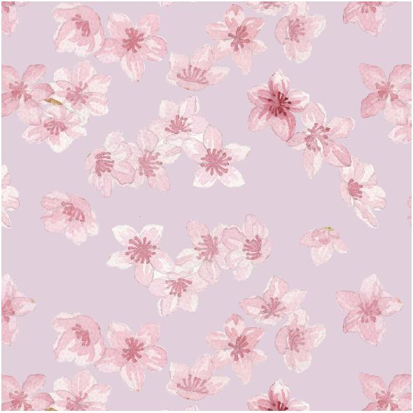 Tkanina 15751 | kwiaty wiśni róż