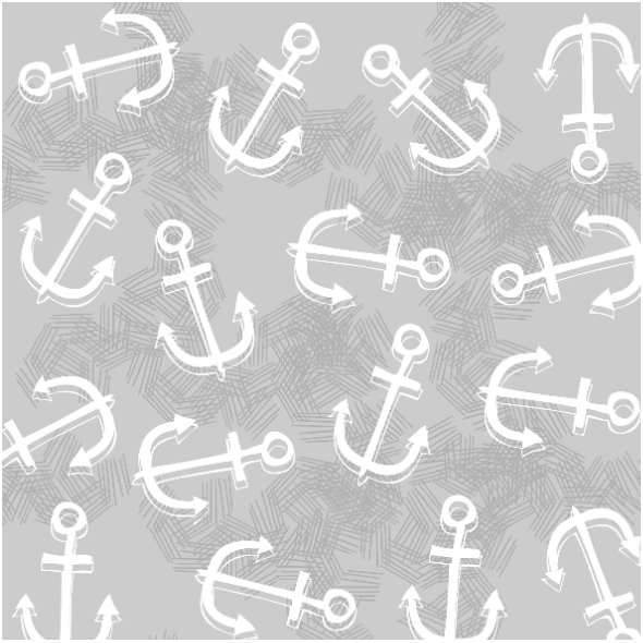 Fabric  | nautical anchors on gray0