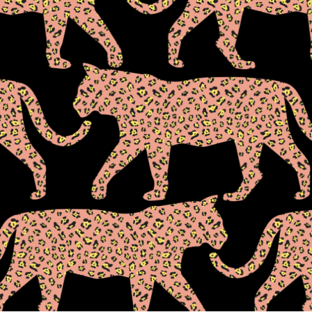Fabric 15800 | Jaguar Tiger Animal Print Black