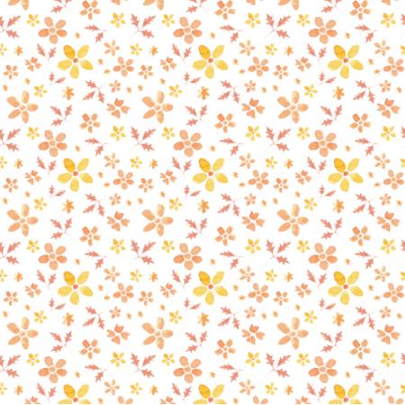 Fabric 15803 | orange flowers