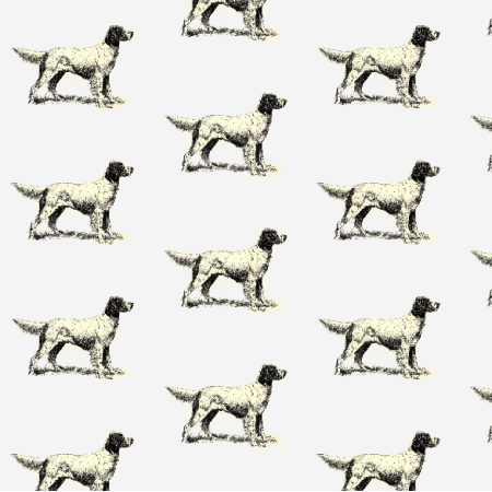 Fabric 15806 | PIESKI - English Setter Dogs