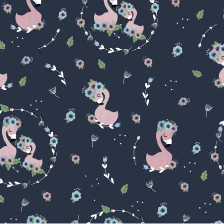 Tkanina 15844 | Flamingi