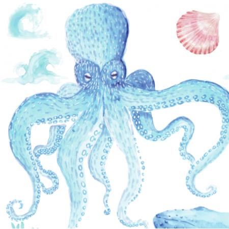Tkanina 15855 | może morze xxl