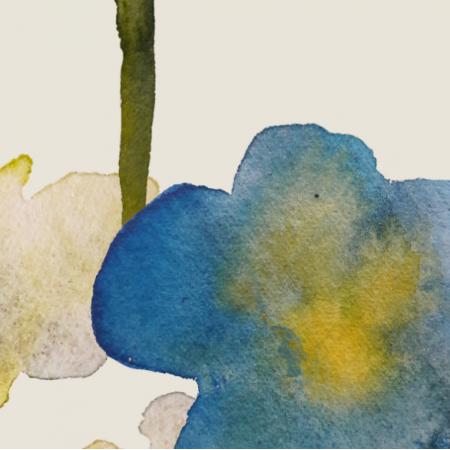 Fabric 15858 | kwiaty malowane xxl